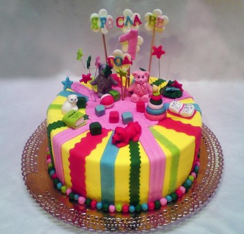 Детские торты на день рождение фото