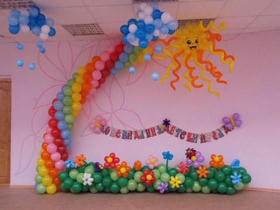 """Воздушные шары на выпускной """" Детские праздники в Нижнем Новгороде. Организация и проведение детских праздников."""