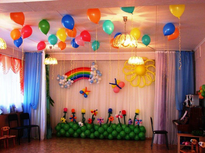Как оформить зал на выпускной в детском саду своими руками