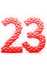 Буквы и цифры из воздушных шаров