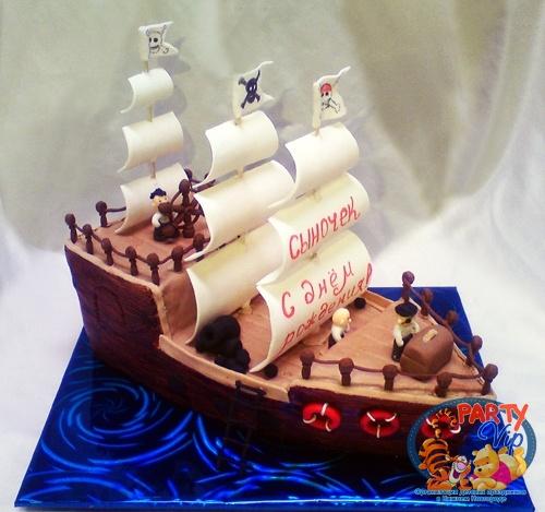 Фото тортов для детей корабль