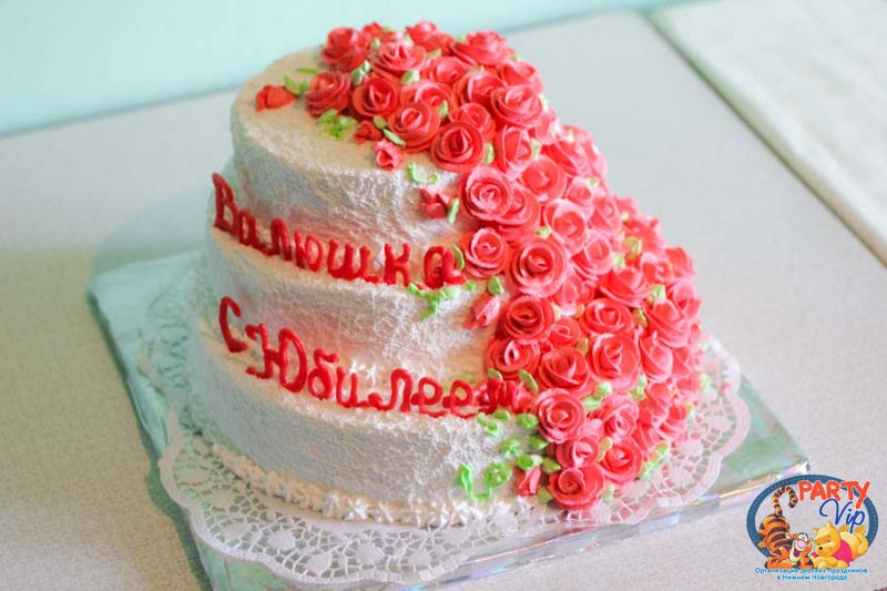 Торт кремовый с юбилеем 70 лет маме